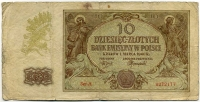 10 злотых 1940 (177) оккупация Польша (б)