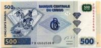 500 франков 2013 Конго (б)