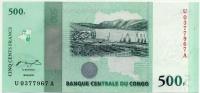500 франков 2010 Конго (б)