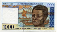1000 франков 1994 (617) Мадагаскар (б)