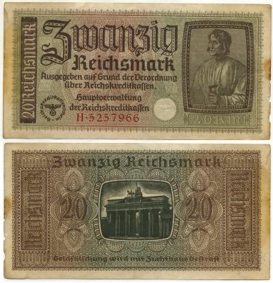 20 марок 1939 (966) Германия (б)