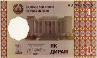 1 дирам 1999 АА Таджикистан (б)