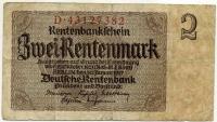 2 марки 1937 (382) № широкий Германия (б)
