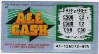 Ирландия Лотерея All Cash (б)