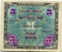 Оккупация 5 марок 1944 (900) Зона Англии Германия (б)