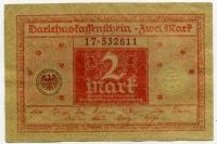 2 марки 1920 (611) красная Германия (б)