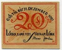 Нотгельд Германия 20 пфенниг 1921 (б)