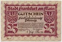 Нотгельд Германия 25 пфенниг 1919 (б)