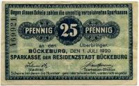 Нотгельд Германия 25 пфенниг 1920 (921) (б)