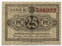 Нотгельд Германия 25 пфенниг 1922 (022) (б)