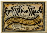 Нотгельд Германия Эрзац банкнота коммунальной кассы 1 млн марок 1923 (825) (б)