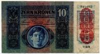 10 крон 1915 (483) 2 надрыва сверху Австрия (б)