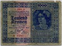 1000 крон 1922 (662) Редкая! Австро-Венгрия (б)