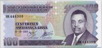 100 франков 2004 (309) большая Бурунди (б)