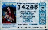 Испания Лотерея 1996 г Лютеранская (б)