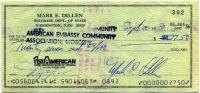 Чек на валюту 1980 США (б)