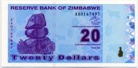 20 долларов 2009 Зимбабве (б)