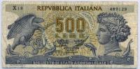 500 лир 1967 (129) Италия (б)