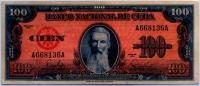 100 песо 1959 (136) Куба (б)