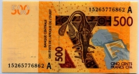 500 франков 2012 КФА (б)