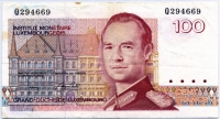 100 франков 1954 (167) редкая! Люксембург (б)