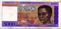 5000 франков (524) Мадагаскар (б)