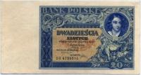 20 злотых 1931 (214) состояние! Польша (б)