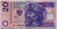 20 злотых 1994 (256) Польша (б)