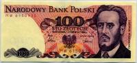 100 злотых 1986 (930) Польша (б)