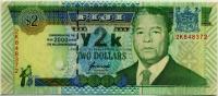 2 доллара 2000 (372) Фиджи (б)