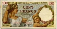 100 франков 1940 (289) Франция (б)