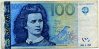 100 крон 1999 (633) Эстония (б)