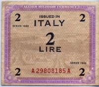 Оккупация 2 лиры 1943 (185) Италия (б)