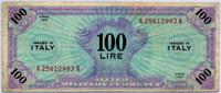 Оккупация 100 лир 1943 1 вар редкая! (993) Италия (б)