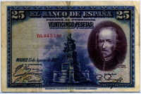 25 песет 1928 (199) Испания (б)