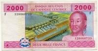 2000 франков 2002 литера F (723) Экваториальная Гвинея (б)