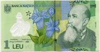 1 лей 2005 пластик Румыния (б)