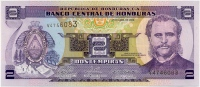 2 лемпира 2008 Гондурас (б)