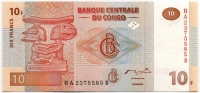 10 франков 2003 Конго (б)